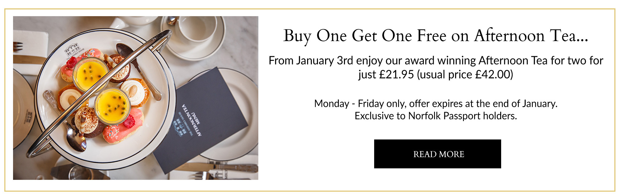 Buy one get one free afternoon tea