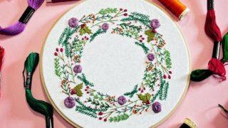 Winter Wreath Embroidery Crafternoon Tea Workshop