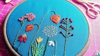 Autumn Flowers Embroidery Crafternoon Tea